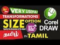 How to use Transformation Size option Tips and Tricks _ Corel Draw in Tamil Tutorial / Soff Tutor