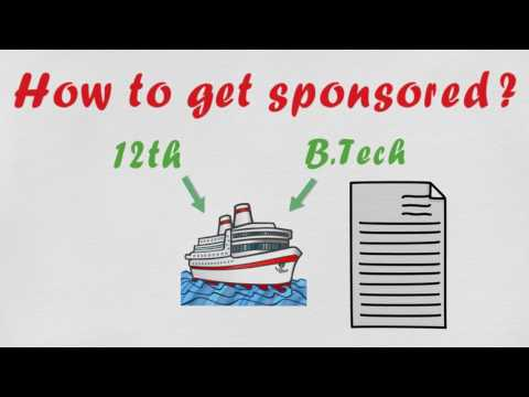 how to get sponsorship for merchant navy ? merchant marine