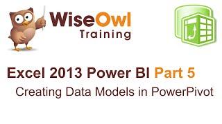 Excel 2013 Power BI أدوات جزء 5 - إنشاء نماذج البيانات في PowerPivot