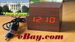 Распаковка фантастического кубика. Часы-будильник-календарь-термометр из США на eBay. Настройка.(Будильник имеет оригинальный пластиковый корпус