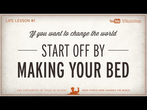 Admiral McRaven's Life Lesson #1: Make Your Bed