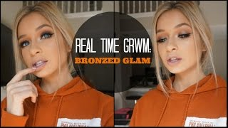 Smokey Bronze Real Time GRWM Makeup | How Long it REALLY Takes Girls to Get Ready