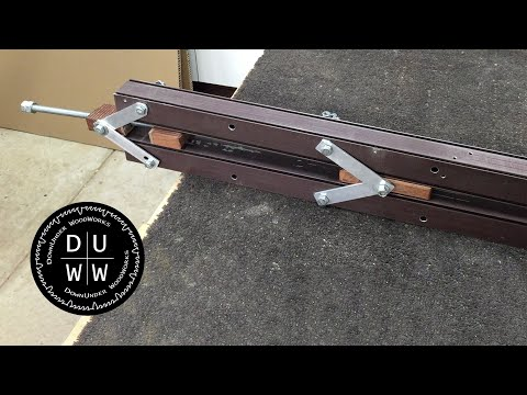 Home made double bar clamp, dual action bar clamp or scissor action bar clamp