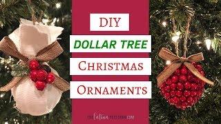 DIY Dollar Tree Christmas Ornaments 2018 - Dollar Tree Christmas Decor