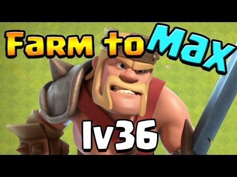 Clash of Clans: TH10 FARM To MAX!  LV36 KING!!