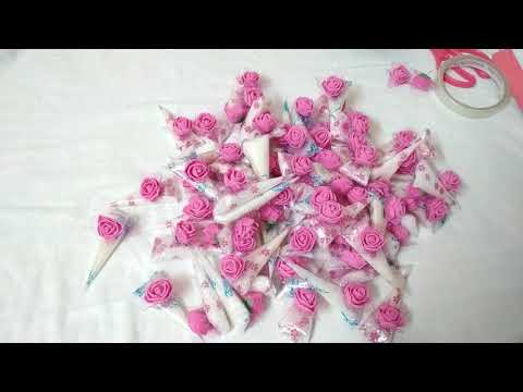 70 small suger cones for engagement || smart art and crafts || diy projects || how to make at home |