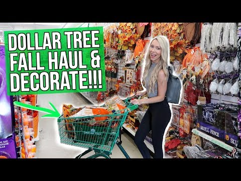 HUGE Dollar Tree Fall Haul & Decorate with Me!