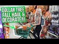 HUGE Dollar Tree Fall Shop with Me & Decorate!