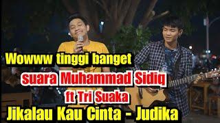 Jikalau Kau Cinta Live Akustik Judika Muhammad Sidiq ft Tri Suaka