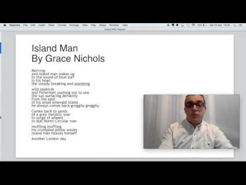'Island Man' by Grace Nichols flipped