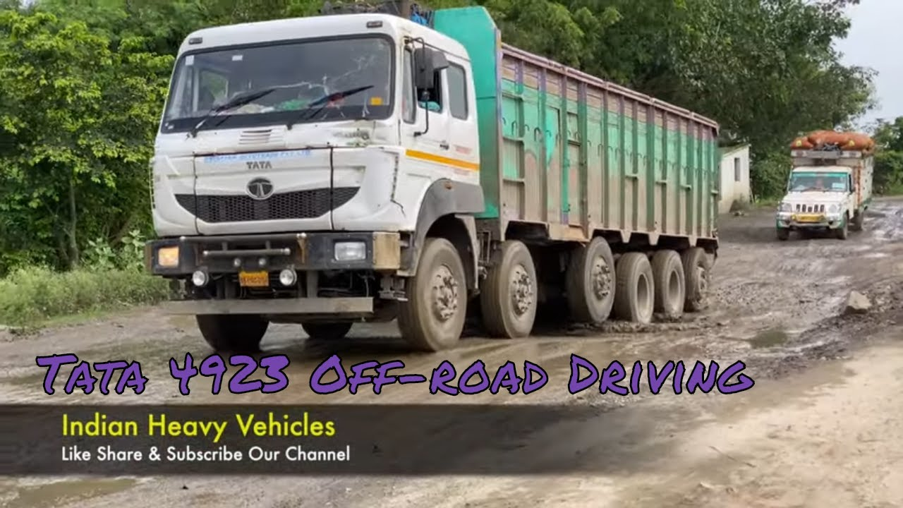 Indian Trucks Off-Road - 16 Wheeler 4823 & 4923 Truck Offroad Driving   Indian Heavy Vehicles.