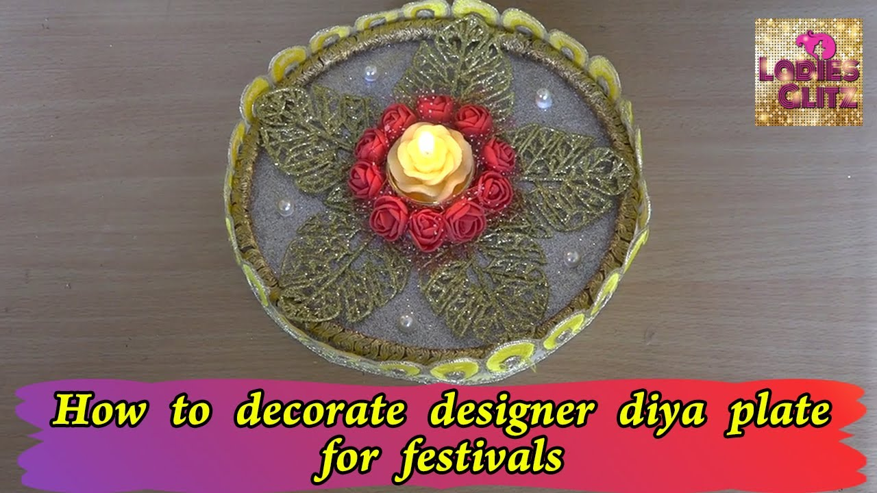 Alangaara Thattu | How to decorate diya plate for festivals | Handcrafted | home decor ideas | DIY