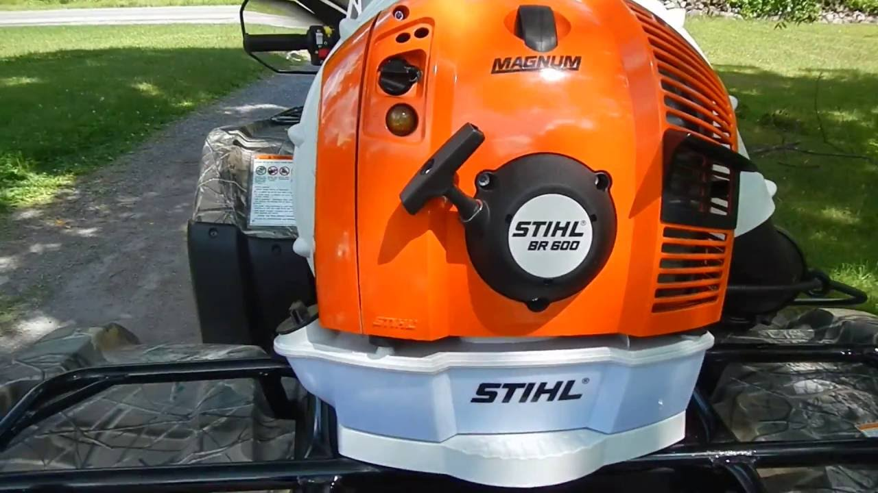 stihl backpack blower. new stihl br600 magnum back pack leaf blower test. angled attatchment lower elbow backpack