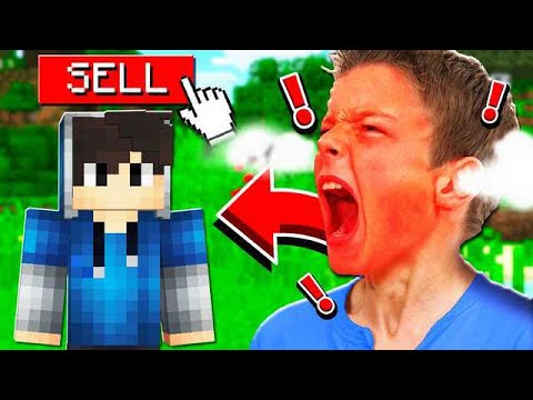 SELLING MY LITTLE BROTHERS MINECRAFT ACCOUNT! **HE RAGED**
