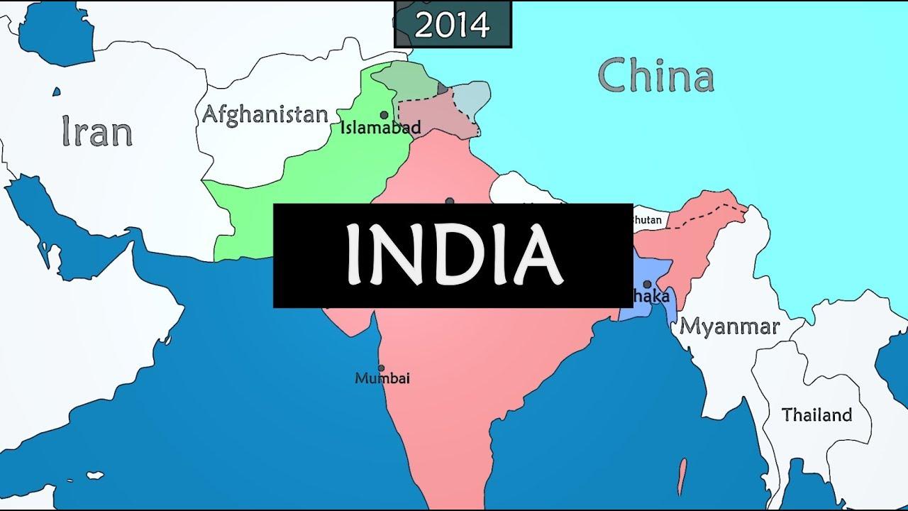 India - summary of history since 1900 - YouTube