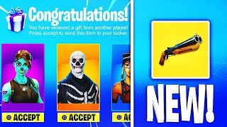 *NEW* Fortnite Gifting System + New Shotgun Gameplay! (Fortnite Battle Royale)