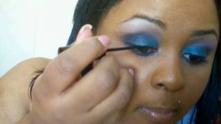 Blue & Purple Eye Shadow Tutorial (HD VERSION) - Simple, Quick, and INEXPENSIVE Thumbnail