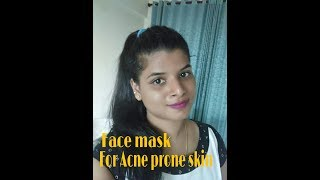 Face mask for Acne prone skin|Beauty withrovina