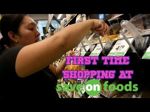 FIRST TIME BUYING GROCERIES @ SAVE ON FOODS (CALGARY, CANADA)