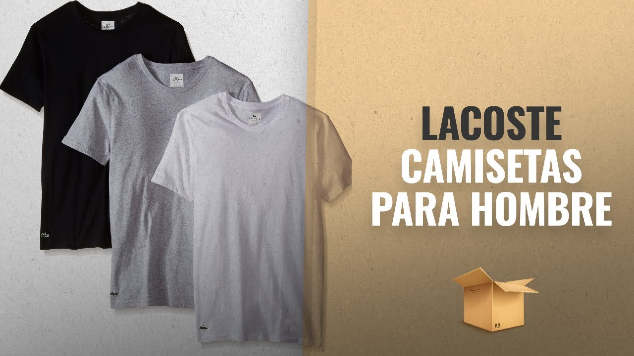 a6cac112b73 Lacoste Mens 3 Pack Essentials Cotton V Neck T Shirt – EDGE ...