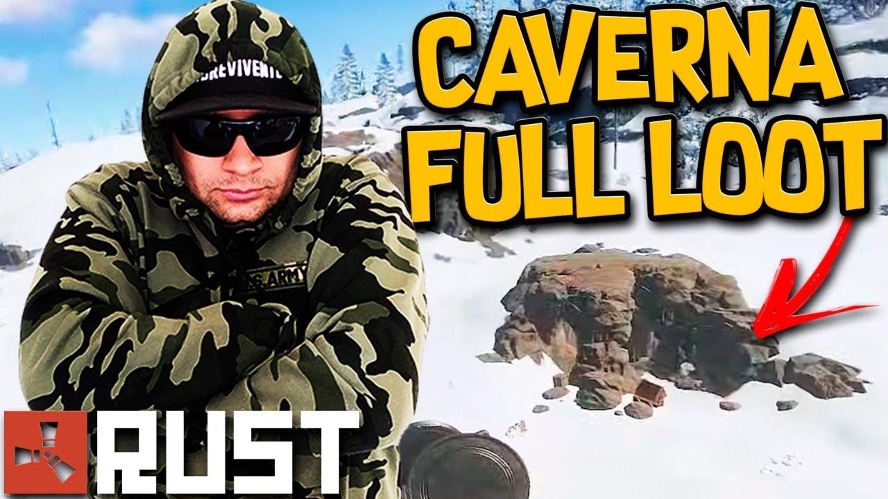 Rust Vanilla 🏰 O Maior JACKPOT Já Visto Na Caverna   LOOT Incrível