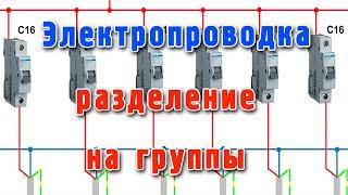Электропроводка как разделить на группы(В этом видео подробно рассмотрено, как грамотно разделить электропроводку на отдельные группы и для чего..., 2014-08-14T10:12:42.000Z)