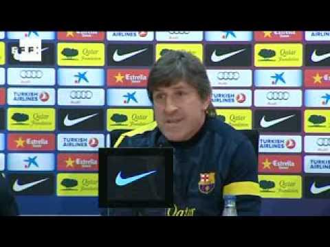 El Barcelona se ejercita antes del clásico