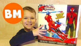 ВМ: Играем Спайдермен Человек-паук с вертолетом | Unboxing Hasbro Marvel Spider-man web copter