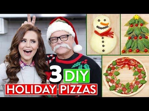 Make 3 DIY HOLIDAY PIZZAS w/ my Dad! Screenshots