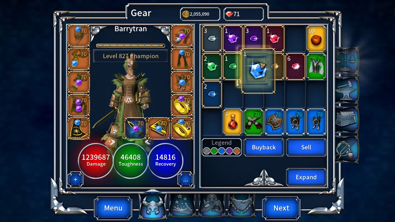 Eternium: Mage and Minions - farming lvl 70 `Trial of the Emerald`