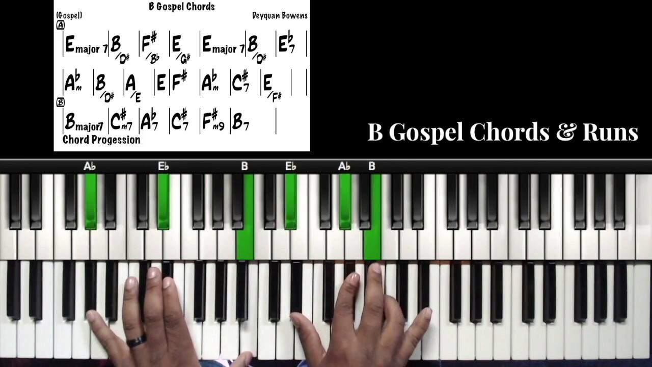 B Gospel Chords & Runs