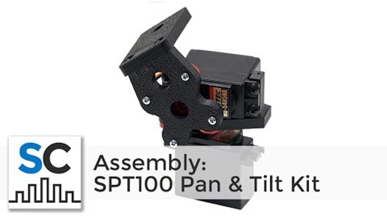 SPT100 Pan & Tilt Kit Assembly (SKU: SPT100H) (Full Instructions)