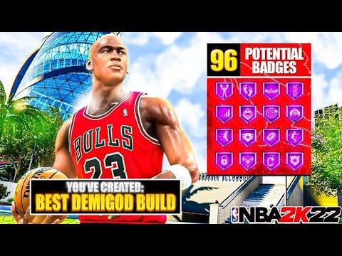NBA 2K22 NEXT GEN 96 BADGE DEMIGOD BUILD IS GAME-BREAKING🔥🔥🔥 BEST BUILD IN NBA 2K22