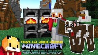 Minecraft 1.11 - CRAZY COW KILLER - Minecraft 1.11 Exploration Update Challenge [2]