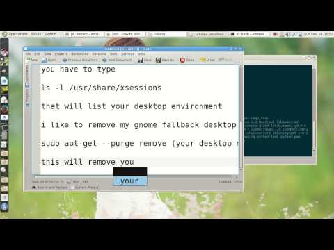 how to remove desktop environment in linux