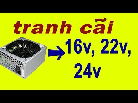 Tận Dụng Nguồn Máy Tính Lấy điện 16v 24v Sạc ắc Quy Và  Chạy Máy Phun Sương