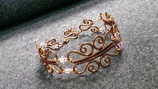 Wire bracelet - How to make wire jewelry 184