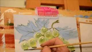 Интуитивное рисование. рисуем виноград.(Цель этого мастер-класса - показать что рисовать может каждый. Интуитивное правополушарное рисование это..., 2014-03-23T09:21:49.000Z)