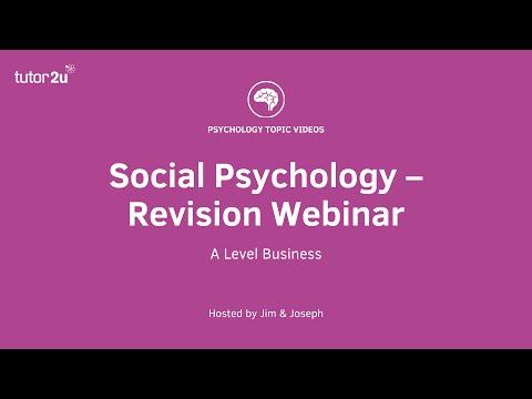 Social Psychology - Revision Webinar (AQA AS)