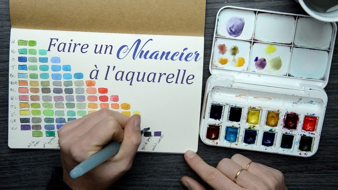 Debuter L Aquarelle Melanger Ses Couleurs Youtube