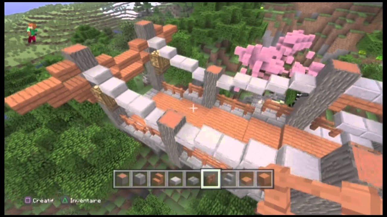 le pont japonais la tf sur minecraft youtube. Black Bedroom Furniture Sets. Home Design Ideas