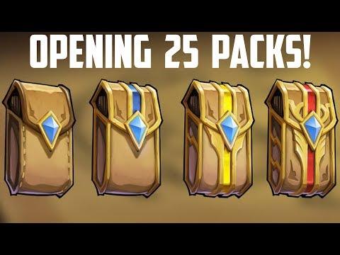 OPENING 25 PACKS! - Card Monsters