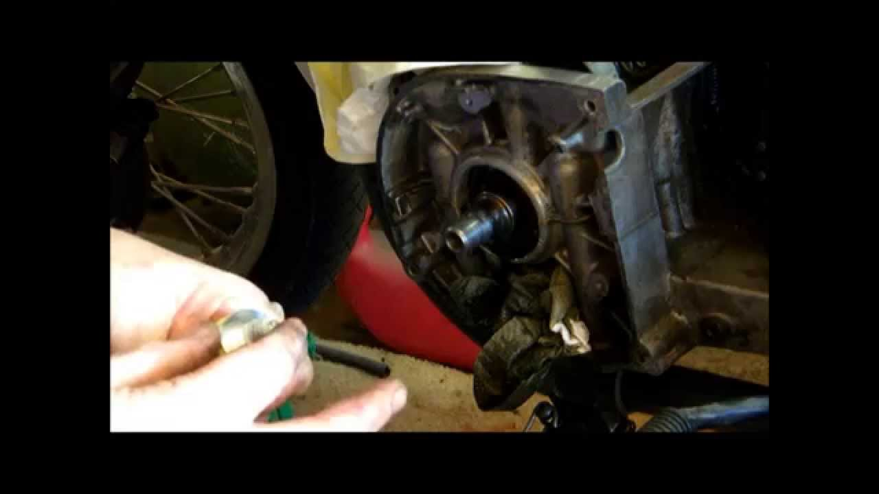 Crank Seal Replacementwmv Youtube Motorcycle Parts 2005 Kdx220a12 Kdx220r Engine Covers Diagram