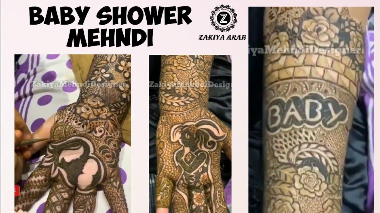 godh bharai mehndi design