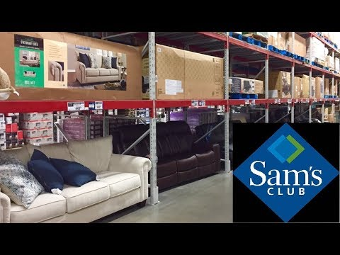 SAM'S CLUB FURNITURE SOFAS COUCHES ARMCHAIRS HOME DECOR SHOP WITH ME SHOPPING STORE WALK THROUGH