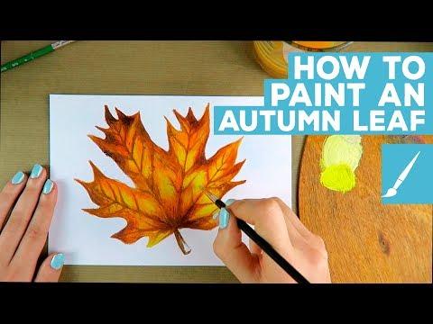Acrylic Painting Tutorial: Autumn Leaf   How to Paint Basics   Atousa