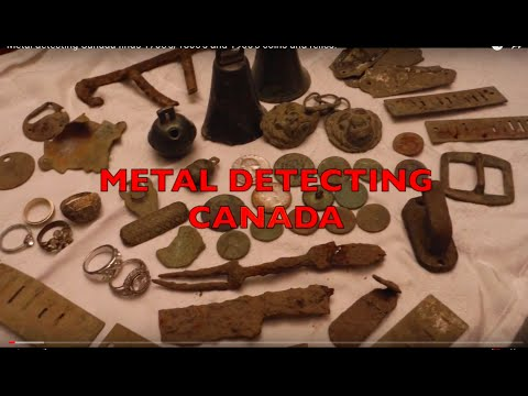 Metal detecting Canada finds 1700's/1800's and 1900's coins and relics!  New oldest coin to date!