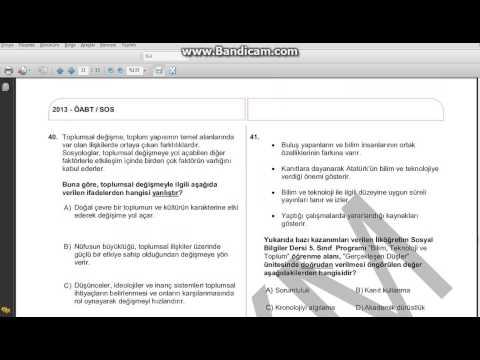 KPSS ÖABT    Sosyal Bilgiler Öğretmenliği  Soru Çözüm Teknikleri-1