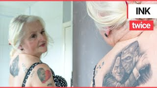 Gran inked from head to toe with Mourinho tattoos gets huge Jeremy Kyle inking | SWNS TV