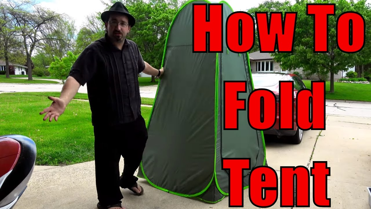 Folding The Privacy Pop Up Tent How To Fold A Popup